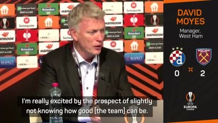 Moyes excited by West Ham potential after perfect Europa League start