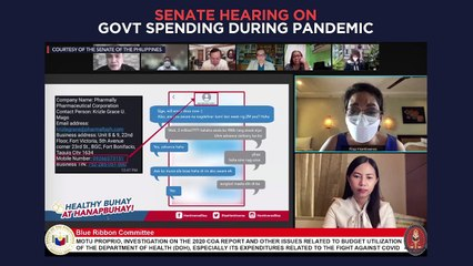 Senate hearing on Philippine government spending during the COVID-19 pandemic