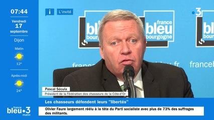 Pascal Sécula le président de la fédération de chasse de Côte-d'Or