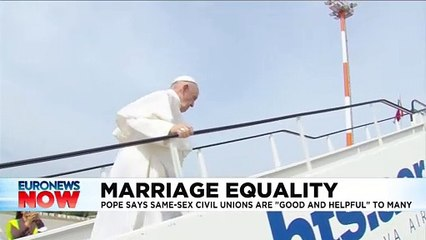 Same-sex civil unions 'good and helpful to many', says Pope Francis