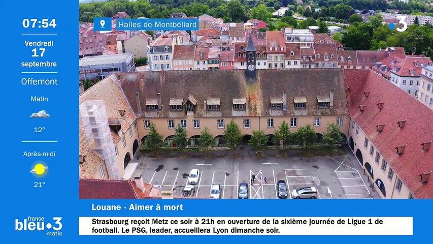 17/09/2021 - Le 6/9 de France Bleu Belfort Montbéliard en vidéo