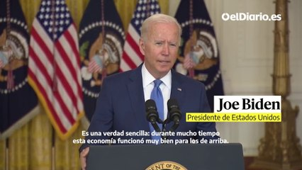 """El mensaje de Biden a los ricos: """"Paguen lo que deben"""""""