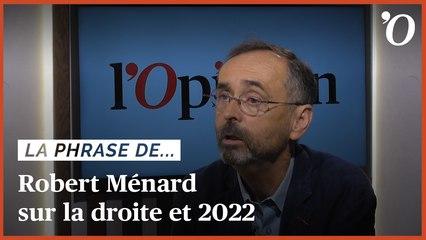 Présidentielle 2022: «C'est à cause de la droite si Emmanuel Macron est aujourd'hui le mieux placé», regrette Robert Ménard