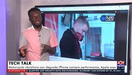 Tech Talk Motorcycle vibrations can degrade iPhone camera performance, Apple says - JoyNews Interactive (17-9-21)