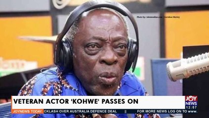 Veteran Actor 'Kohwe' Passes on -  Joy Showbiz Today (17-9-21)