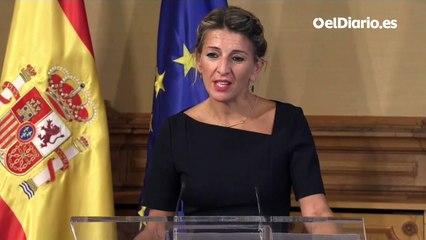"Yolanda Díaz avisa a la patronal: ""A veces no negociando se pierde"""