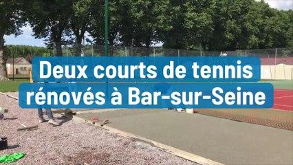 Deux courts de tennis rénovés à Bar-sur-Seine