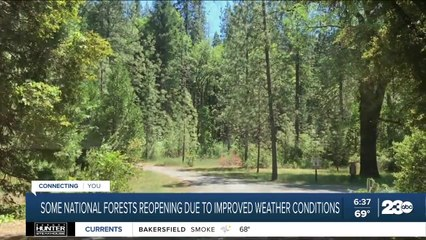 Some national forests reopening early