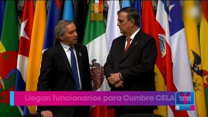 Llegan a México funcionarios que participarán en la cumbre CELAC