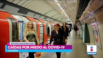 Aumentan las caídas en transporte por miedo a Covid-19 en Londres