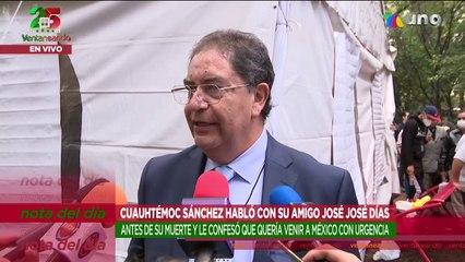 Cuauhtémoc Sánchez, amigo de José José, aseguró que Sara Salazar tenía un amante.   Ventaneando
