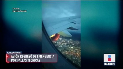 Avión tuvo que aterrizar de emergencia por fallas en la turbina