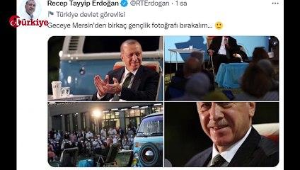 """Recep Tayyip Erdoğan Gençlerle """"Bana Her Şey Sizi Hatırlatıyor Şarkısını Söyledi"""