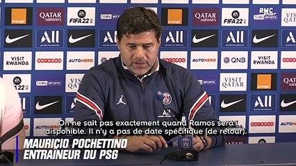 """PSG : """"Pas de date de retour spécifique"""" pour Ramos confirme Pochettino"""