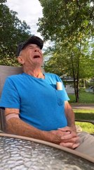 Elderly Naval Veteran Gets Emotional on Hearing News of Getting New Scooter Via Online Donations