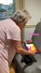 Woman Pranks Grandma by Sticking Cracked Screen Sticker on her Tablet