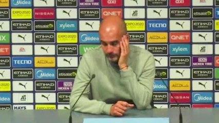 """5e j. - Guardiola : """"Les 5 qui doivent apporter le ballon à ceux de devant n'ont pas été bons aujourd'hui"""""""