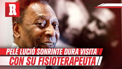 Pelé lució sonriente durante sesión de fisioterapia en hospital
