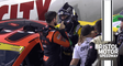 Chase Elliott and Kevin Harvick get heated on pit road at Bristol