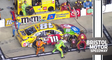 Kyle Busch has a tire go down in final stage