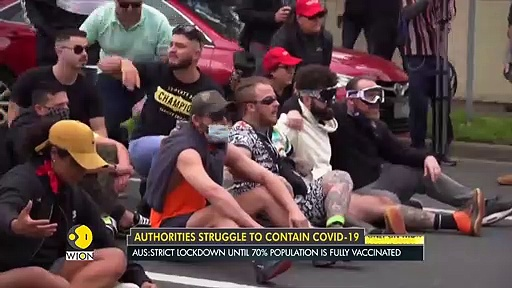 Hundreds of Australians protest against lockdown _ Coronavirus _ English News _ World News _ WION