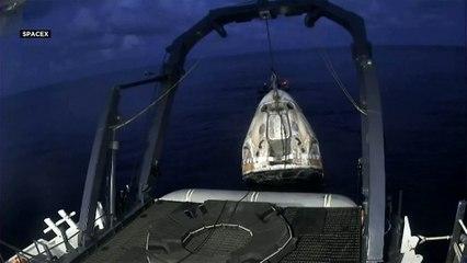 World's first space tourists splash down after three days in orbit