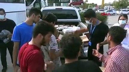 Borularla dövüp yarı çıplak Türkiye'ye gönderdiler