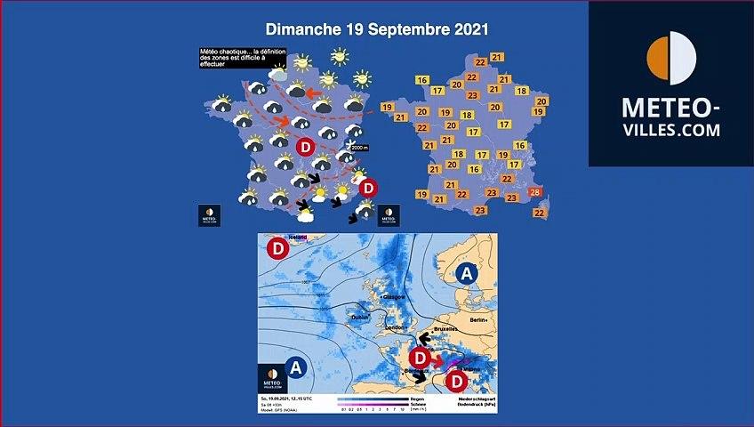 previsions météo du dimanche 19 septembre 2021