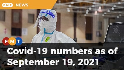 Covid-19 numbers as of September 19, 2021