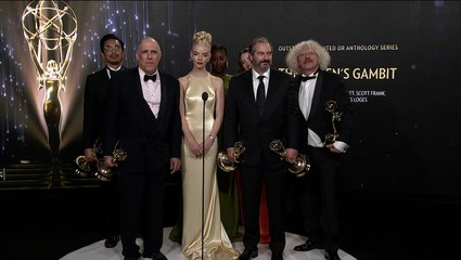 'Queen's Gambit' Backstage Interview at the 2021 Emmys