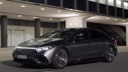 Der neue Mercedes-AMG EQS 53 4MATIC+ - AMG-spezifische E-Motoren für perfekt ausbalancierte Driving Performance