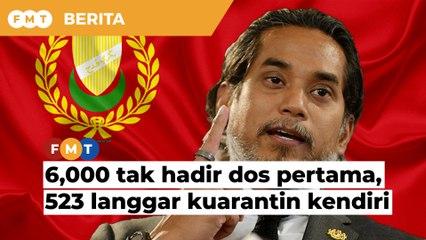 6,000 tak hadir dos pertama di Kedah, 523 langgar kuarantin kendiri, kata KJ