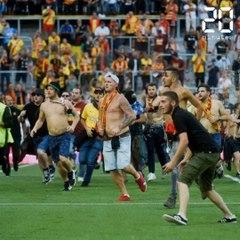 RC Lnes-Losc: Images exclusives des échauffourées entre supporters