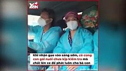 """Việt Hương liên tục xin lỗi khi lỡ phát gạo mốc cho bà con, CĐM: """"Đến xin lỗi cô cũng dễ thương nữa"""""""