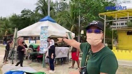 Travel Maya Pulau Langkawi : Keadaan Pantai Cenang Sehari Sebelum Hari Pembukaan