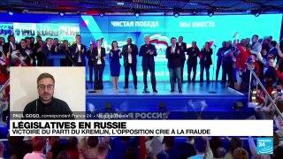 Législatives russes: victoire du parti du Kremlin, l'opposition crie à la fraude