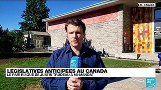 Le Canada aux urnes, l'avenir politique de Trudeau en jeu