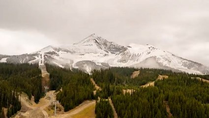 Snow overtakes Lone Mountain