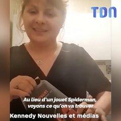 Kayley Stocker avait acheté à son fils une lampe Spiderman sur Amazon quand elle a remarqué qu'elle avait une forme étrange, elle a décidé de l'ouvrir pour vérifier
