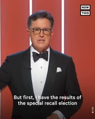 Stephen Colbert Jokes About CA Recall at Emmy Awards
