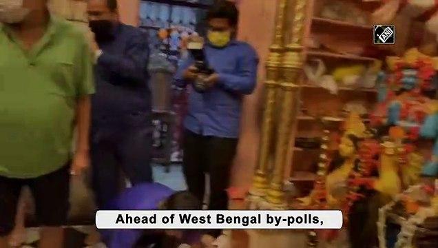 WB by-polls: CM Mamata offers prayers at Shitala Mata Temple in Bhabanipur
