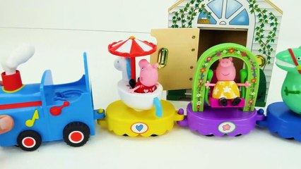 Peppa Pig Toy Zoo Animal Learning Video for Kids