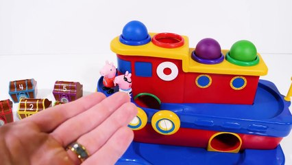 Peppa Pig Treasure Chests Color Learning Video for Toddlers and Kids
