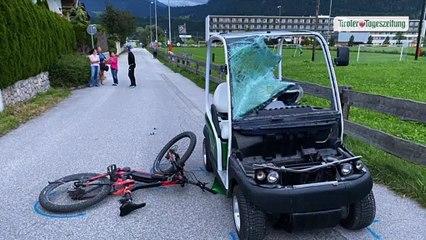 Betrunkener Golfwagen-Fahrer prallte mit E-Biker in Münster zusammen