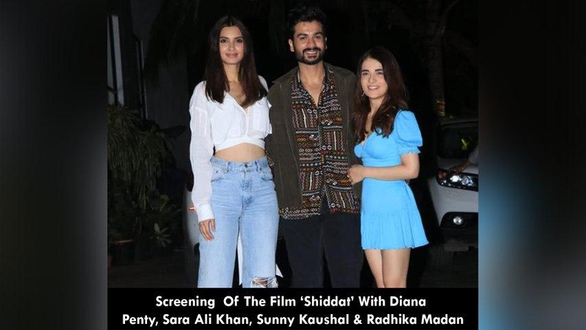 Screening  Of The Film 'Shiddat' With Diana Penty, Sara Ali Khan