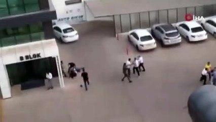 Diyarbakır'da otoparkta birbirlerine girdiler