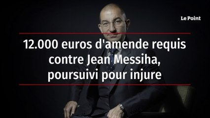 12.000 euros d'amende requis contre Jean Messiha, poursuivi pour injure