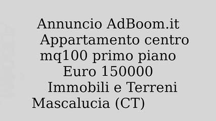 Appartamento centro mq100 primo piano