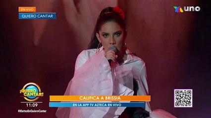 Brisisa sacó coraje y fuerza para interpretar la canción 'Malo'.   Venga La Alegría