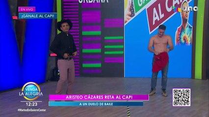 ¡Aristeo Cázares y El Capi tuvieron una divertida revancha en el programa!   Venga La Alegría